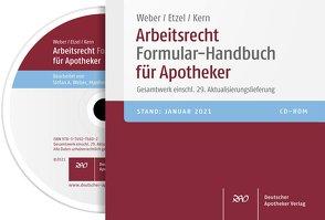 Arbeitsrecht Formular-Handbuch für Apotheker von Arnold,  Manfred, Etzel,  Gerhard, Kern,  Günter, Weber,  Stefan A.