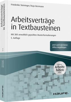 Arbeitsverträge in Textbausteinen – inkl. Arbeitshilfen online von Hermann,  Kaja, Steininger,  Friederike