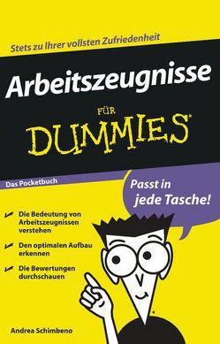 Arbeitszeugnisse für Dummies Das Pocketbuch von Schimbeno,  Andrea