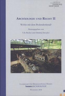 Archäologie und Recht II von Davydov,  Dimitrij, Recker,  Udo