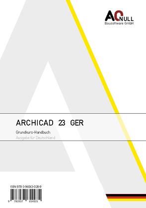 Archicad23Grundkurs-Handbuch GER von Binder,  Bernhard