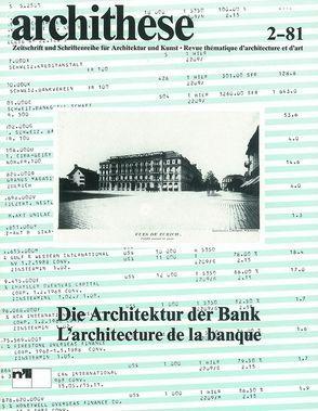 Architektur der Bank von Steinmann,  Martin