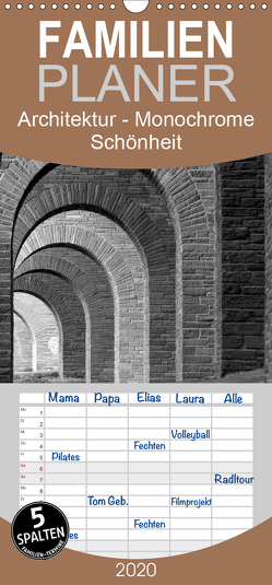 Architektur – Monochrome Schönheit – Familienplaner hoch (Wandkalender 2020 , 21 cm x 45 cm, hoch) von happyroger