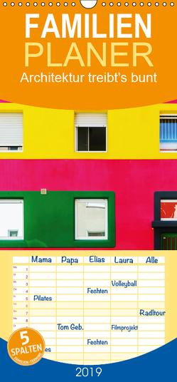 Architektur treibt's bunt – Familienplaner hoch (Wandkalender 2019 , 21 cm x 45 cm, hoch) von Müller,  Christian