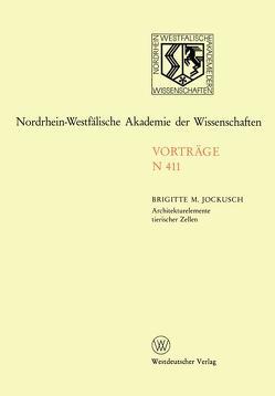 Architekturelemente tierischer Zellen von Jockusch,  Brigitte M.