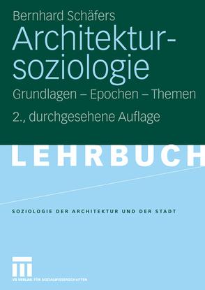 Architektursoziologie von Schäfers,  Bernhard