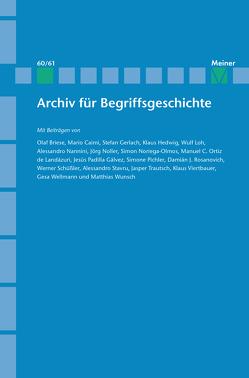 Archiv für Begriffsgeschichte. Band 60/61 von Bermes,  Christian, Busche,  Hubertus, Erler,  Michael