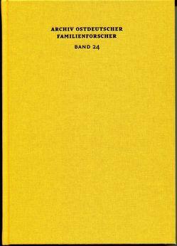 Archiv ostdeutscher Familienforscher Band 24