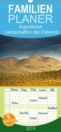Argentinien Landschaften der Extreme – Familienplaner hoch (Wandkalender 2019 , 21 cm x 45 cm, hoch) von boeTtchEr,  U