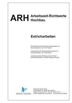 ARH-Tabelle Estricharbeiten