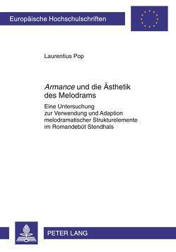 «Armance» und die Ästhetik des Melodrams von Pop,  Laurentius