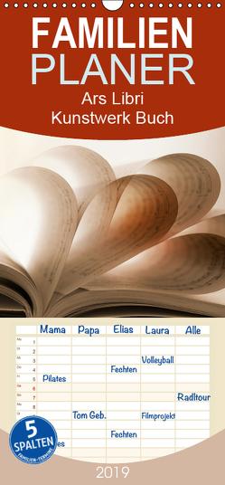 Ars Libri – Kunstwerk Buch – Familienplaner hoch (Wandkalender 2019 , 21 cm x 45 cm, hoch) von Kraetschmer,  Marion