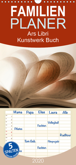 Ars Libri – Kunstwerk Buch – Familienplaner hoch (Wandkalender 2020 , 21 cm x 45 cm, hoch) von Kraetschmer,  Marion