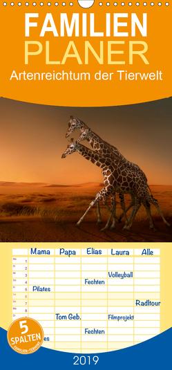 Artenreichtum der Tierwelt – Familienplaner hoch (Wandkalender 2019 , 21 cm x 45 cm, hoch) von Swierczyna,  Eleonore
