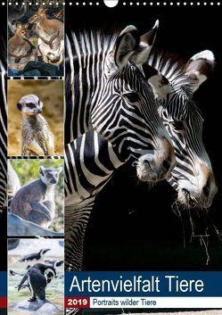 Artenvielfalt Tiere (Wandkalender 2019 DIN A3 hoch) von Sigwarth,  Karin