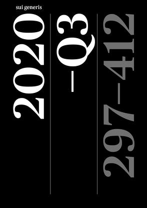 Artikelsammlung 2020–Q3 von Biberstein,  Lorenz, Capus,  Nadja, Clément,  Eric, Graf,  Marc, Habermeyer,  Elmar, Himmelreich,  Jörg, Markić,  Luka, Nufer,  Marc, Picecchi,  Dario, Progin-Theuerkauf,  Sarah, Raess,  Lorenz, Sieber-Gasser,  Charlotte, Simmler,  Monika, Staudinger,  Sina, Thommen,  Marc, Thurnherr,  Daniela, Wohlwend,  Marc