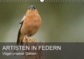 Artisten in Federn – Vögel unserer Gärten (Wandkalender 2018 DIN A3 quer) von Krebs,  Alexander