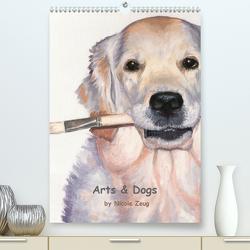 Arts & Dogs (Premium, hochwertiger DIN A2 Wandkalender 2021, Kunstdruck in Hochglanz) von Zeug,  Nicole