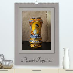 Arznei Fayencen (Premium, hochwertiger DIN A2 Wandkalender 2021, Kunstdruck in Hochglanz) von Renken,  Erwin