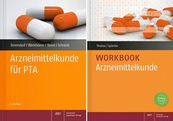 Arzneimittelkunde-Workbook mit Arzneimittelkunde für PTA von Derendorf,  Hartmut, Schrank,  Anne Julia, Sprecher,  Nadine Yvonne, Steen,  Heike, Thomas,  Annette, Wemhöner,  Ralf