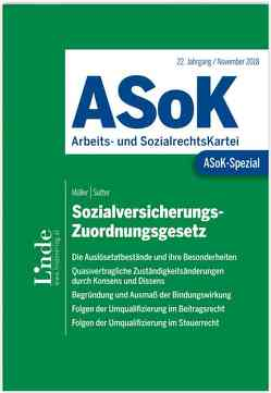 ASoK-Spezial Sozialversicherungs-Zuordnungsgesetz von Sutter,  Franz