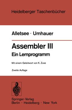 Assembler III von Alletsee,  Rainer, Umhauer,  Gerd F., Zuse,  Konrad