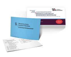 ASSEX Karteikarten ÖR NRW – Die verwaltungsgerichtliche Entscheidung von Kues,  Dr. Dirk