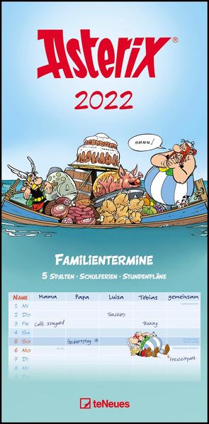 Asterix 2022 Familienplaner – Familien-Timer – Termin-Planer – Kids – Kinder-Kalender – Familien-Kalender – 22×45 von Uderzo,  Albert
