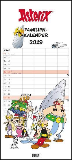 Asterix Familienplaner 2019 – Wandkalender – Familienkalender mit 5 Spalten –- Format 22 x 49 cm von DUMONT Kalenderverlag, Uderzo,  Albert