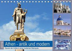 Athen – antik und modern (Tischkalender 2019 DIN A5 quer) von Thauwald,  Pia