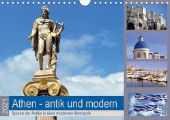 Athen – antik und modern (Wandkalender 2021 DIN A4 quer) von Thauwald,  Pia