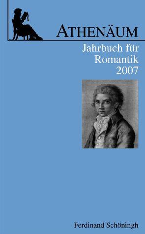 Athenäum Jahrbuch für Romantik von Behler,  Ernst, Frank,  Manfred, Hoerisch,  Jochen, Oesterle,  Guenter