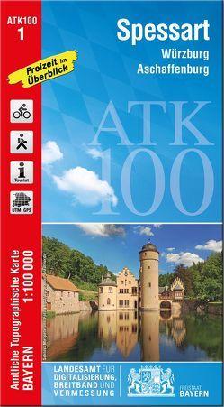ATK100-1 Spessart (Amtliche Topographische Karte 1:100000) von Landesamt für Digitalisierung,  Breitband und Vermessung,  Bayern