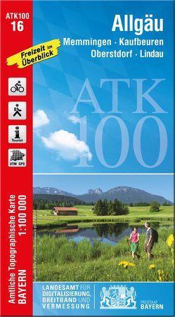 ATK100-16 Allgäu (Amtliche Topographische Karte 1:100000) von Landesamt für Digitalisierung,  Breitband und Vermessung,  Bayern