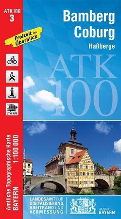ATK100-3 Bamberg-Coburg (Amtliche Topographische Karte 1:100000) von Landesamt für Digitalisierung,  Breitband und Vermessung,  Bayern