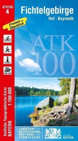ATK100-4 Fichtelgebirge (Amtliche Topographische Karte 1:100000) von Landesamt für Digitalisierung,  Breitband und Vermessung,  Bayern