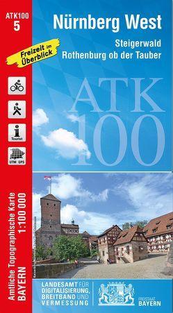 ATK100-5 Nürnberg West (Amtliche Topographische Karte 1:100000) von Landesamt für Digitalisierung,  Breitband und Vermessung,  Bayern