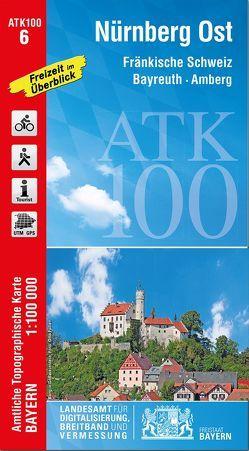 ATK100-6 Nürnberg Ost (Amtliche Topographische Karte 1:100000) von Landesamt für Digitalisierung,  Breitband und Vermessung,  Bayern