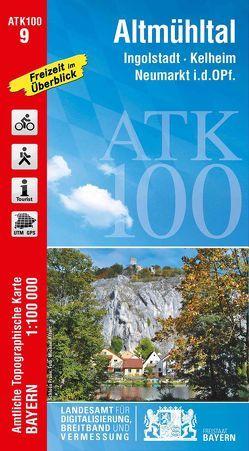 ATK100-9 Altmühltal (Amtliche Topographische Karte 1:100000) von Landesamt für Digitalisierung,  Breitband und Vermessung,  Bayern
