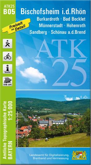ATK25-B05 Bischofsheim i.d.Rhön (Amtliche Topographische Karte 1:25000)