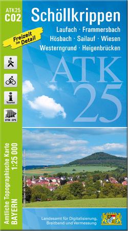 ATK25-C02 Schöllkrippen (Amtliche Topographische Karte 1:25000)