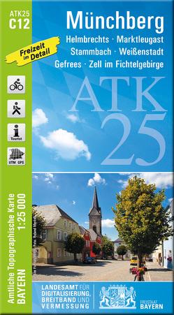 ATK25-C12 Münchberg (Amtliche Topographische Karte 1:25000) von Landesamt für Digitalisierung,  Breitband und Vermessung,  Bayern