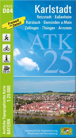 ATK25-D04 Karlstadt (Amtliche Topographische Karte 1:25000)