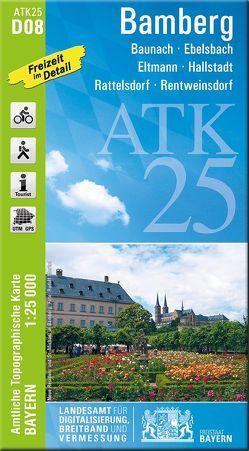 ATK25-D08 Bamberg (Amtliche Topographische Karte 1:25000) von Landesamt für Digitalisierung,  Breitband und Vermessung,  Bayern