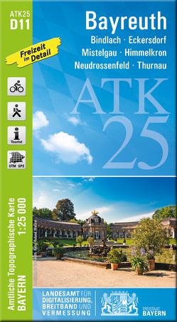 ATK25-D11 Bayreuth (Amtliche Topographische Karte 1:25000) von Landesamt für Digitalisierung,  Breitband und Vermessung,  Bayern