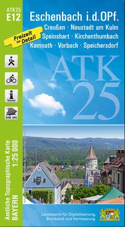 ATK25-E12 Eschenbach i.d.OPf. (Amtliche Topographische Karte 1:25000)