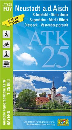 ATK25-F07 Neustadt a.d.Aisch (Amtliche Topographische Karte 1:25000)