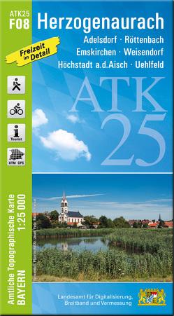 ATK25-F08 Herzogenaurach (Amtliche Topographische Karte 1:25000)