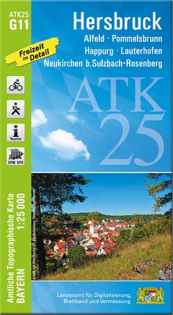 ATK25-G11 Hersbruck (Amtliche Topographische Karte 1:25000)