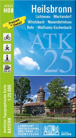 ATK25-H08 Heilsbronn (Amtliche Topographische Karte 1:25000) von Landesamt für Digitalisierung,  Breitband und Vermessung,  Bayern